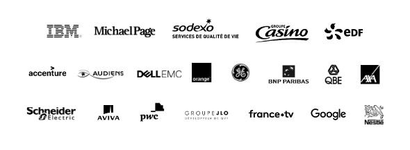 Merci à nos partenaires : IBM, Michael Page, Sodexo, Casino Groupe, EDF, Accenture, Audiens, DELL EMC, Orange, GE, BNP Paribas, QBE, Axa, Schneider Electric, Aviva, PWC, Groupe JLO, France TV, Google, Nestlé